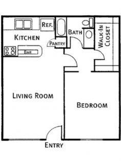 650 square feet floor plan floor plans house ideas pinterest house plans floors and squares. Black Bedroom Furniture Sets. Home Design Ideas