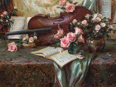Daniel Gerhardt, still life, violin