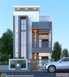 House Floor Design, House Outer Design, 3 Storey House Design, Minimal House Design, Bungalow House Design, Design Your Dream House, Front Design Of House, Modern Small House Design, Modern House Facades