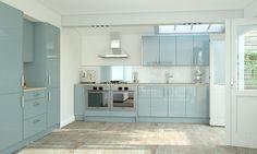 Pacrylic Blue Quartz Gloss Kitchen wrenkitchens