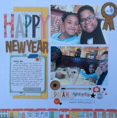 """Happy New Year"" using the November 2015 Feels Like Home Kit by Scraptastic Kit Club  http://www.scraptasticclub.com http://www.victoriamarieblog.com"