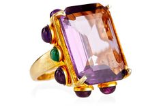 Amethyst Cocktail Ring on OneKingsLane.com