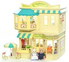 Sylvanian Families Decorated Cath Kidston Shop/Cafe/House + Lots Of Fab Extras