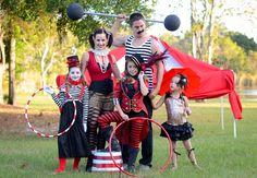 Circus Freak Show Family Halloween Costume Circus Family Costume, Circus Halloween Costumes, Hallowen Costume, Family Halloween Costumes, Carnival Costumes, Costume Ideas, Diy Costumes, Halloween Tags, Freak Show Halloween