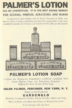 """1921 ad: """"best known remedy for eczema, pimples, scratches and burns"""""""