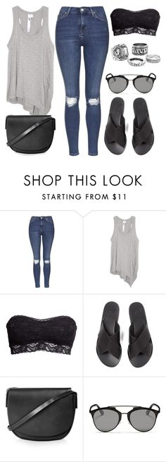 """""""Style #10002"""" by vany-alvarado ❤ liked on Polyvore featuring Topshop, Wilt, H&M, Ancient Greek Sandals and Christian Dior"""