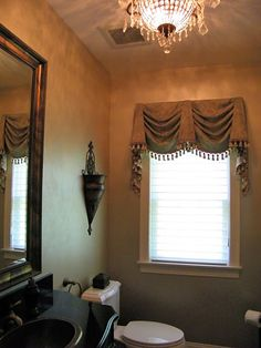 16 Ideas Bathroom Window Treatments Valance Wall Colors For 2019 Bathroom Window Treatments, Valance Window Treatments, Bathroom Windows, Custom Window Treatments, Window Coverings, Home Goods Decor, Home Decor, Curtain Designs, Curtain Ideas