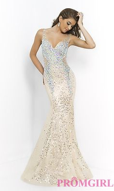 Beaded Evening Gown by Blush 9925 at PromGirl.com