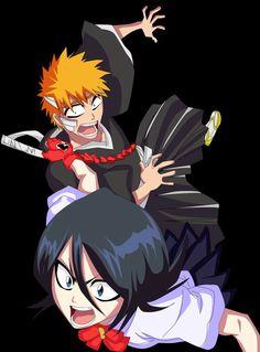 Ichigo Kurosaki (黒崎 一護, Kurosaki Ichigo) is a Human who has Shinigami powers. He is also a Substitute Shinigami. Ichigo is the son of Isshin and Masaki Kurosaki, and older brother of Karin and Yuzu. And Rukia Kuchiki (朽木 ルキア, Kuchiki Rukia) is the lieutenant of the 13th Division under Captain Jūshirō Ukitake. Rukia is the adoptive sister of Byakuya Kuchiki and a friend of Ichigo Kurosaki.