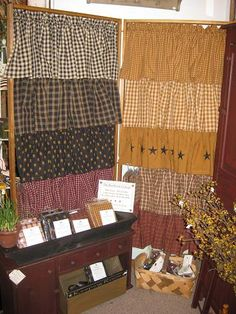 We offer a great selection of Country Primitive Curtains on our website www.theredbrickcottage.com .