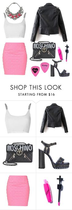 """Punk"" by xmissnthingx ❤ liked on Polyvore featuring Alexander Wang, Tom Binns, Moschino, Lanvin and Manic Panic NYC"