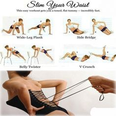 Slim Your Waist - Easy Workout To Get Your Toned And Flat Tummy - FITNESS HASHTAG
