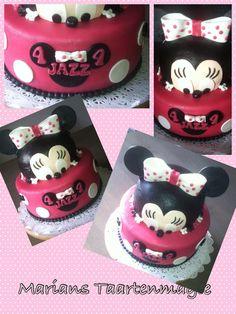 Voor Jazz deze Minnie Mouse taart