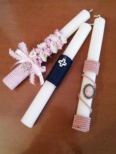 Handmade easter candles