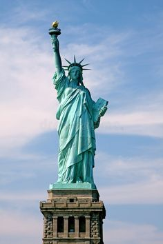 Photo about Statue of Lady Liberty in New York City, gift from France to the United States of America. Image of green, flame, freedom - 6296789 Statue Of Liberty Drawing, Statue Of Liberty Tattoo, Liberty Statue, Liberty Wallpaper, Abstract City, Beautiful Nature Wallpaper, Illusion Art, Nose Art, Famous Places