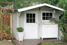 houten tuinhuizen lichtgrijs - Google zoeken