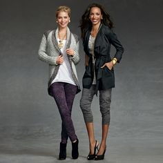 Texture is all the rage this fall season! The Shadow Sweater (left) and the Fleck Pant (right) will make you feel cozy AND fashion forward at once!