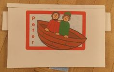 Peter Pop-up Book -- includes PDFs for the following stories: Jesus helps Peter and Andrew fish, Peter walks on the water, Peter denies Jesus, the church begins, Peter sees a vision and Peter is arrested.