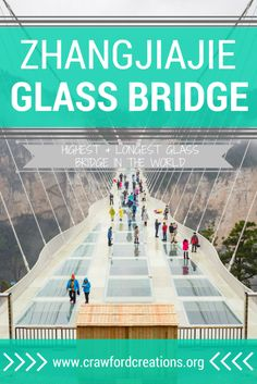 Your ultimate guide to the Zhangjiajie Glass Bridge. Walk across the highest and longest glass bridge in the world spanning the width of Zhangjiajie's Grand Canyon. I Want To Travel, Best Places To Travel, Places To See, Best Travel Guides, Travel Advice, Travel Tips, Glass Bridge China, China Travel Guide, Zhangjiajie