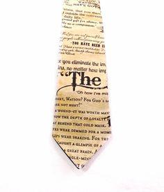 Sherlock Holmes Necktie by TheGeektonian on Etsy, $33.00