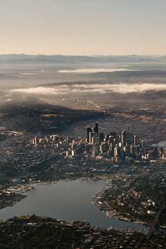 If you're lucky, you'll get this view on your flight out of Seattle.