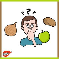 Food Fact: apples, onions, and potatoes all have the same taste? Try the test: Pinch your nose and take a bite out of each.