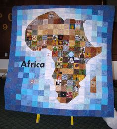 quilt for hubby | My quilt of Africa, using various fabrics, some of which I purchased ...