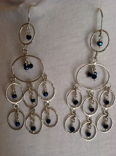 Chandelier Earrings  Sterling Silver by CopperfoxCreation on Etsy $32.00