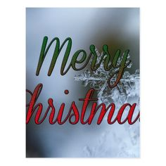 Merry Christmas snowflake greeting Postcard - holiday card diy personalize design template cyo cards idea