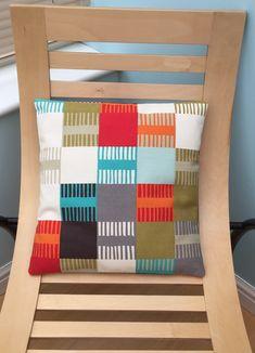 Abstract cushion cover, squared print, home decor, pillow, Scion fabric Scion Fabric, Beautiful Gifts, Fabric Design, Decorative Pillows, Fabrics, Handmade Items, Cushions, Textiles, Throw Pillows