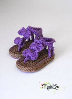 Baby crochet sandals by NicoleAnnDesigns