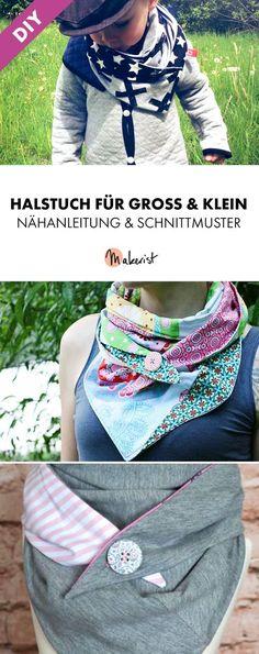 Süßes Wende-Halstuch für Kinder, Damen und Herren - Nähanleitung und Schnittmuster via Makerist.de