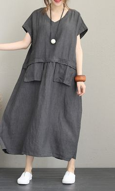 Top quality orange linen dress plus size o neck linen maxi dress women  short sleeve patchwork dress 807b5e91f6d1