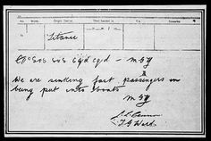An SOS telegram from the Titanic.