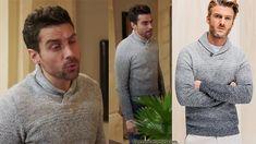 """Thomas (Cyril Garnier) porte un pull châle gris dans l'épisode 170 de """"Demain nous appartient"""""""