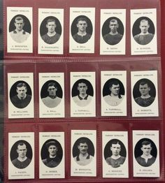 MANCHESTER UNITED PROMINENT FOOTBALLERS FULL SET OF15  REPR0 CARDS- TADDY MINT Collectible Cards, Famous Stars, Animal Heads, Full Set, Manchester United, Nostalgia, Mint, The Unit, Lettering