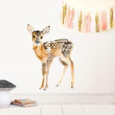 Nursery Baby Deer Woodland Deer Decor pépinière Art par chocovenyl
