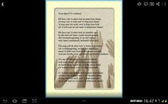 Poem by Jan F. Cilliers, former poetrist of South Africa.