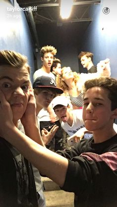 *opens my door* I leave u guys alone in the hallway for 20 seconds and I come out to see this? Why am I not surprised... Shawn: Hey!! u know u luv us! Me: U yes them questionable Shawn: Yes she luvs me!! Jack: U owe me 30 bucks Nash Nash: Damn I thought she loved cam Cam: Aw i thought so to... Me: Shawn's my bf of course I luv him Nash:....Oh ya I forgot about that Me: -.- boi