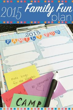 What will your family do this year? Why not write down some ideas together? Like the old saying goes, if you plan to do nothing, you will! Let's plan to have some family fun this year! Free printable.