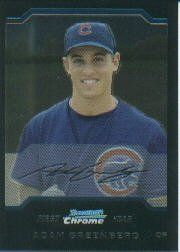 2004 Bowman Chrome #180 Adam Greenberg RC by Bowman Chrome. $2.55. 2004 Topps Co. trading card in near mint/mint condition, authenticated by Seller