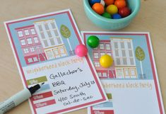 Free, printable block party invitations from Echo Park Paper Blog. Cute!