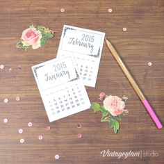 2015 Monthly Project Life Calendar Cards - Free Printable Download