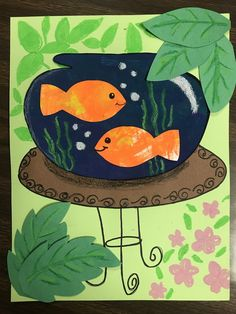 Kindergarten Matisse Goldfish art lesson, Kindergarten art lesson, elementary art lesson, 1st grade art lesson, 1st grade matisse goldfish