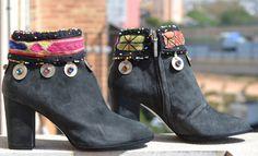 ETHNIC SUEDE BOOTS with heel por MISIGABRIELLA en Etsy