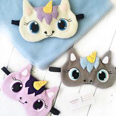 Unicorn sleep mask Funny sleep mask Sleep mask for womenHelpful Aromatherapy Strategies For Thomas Trains Pyjama Party Fille, Felt Crafts, Diy And Crafts, Sewing Crafts, Sewing Projects, Diy Masque, Purple Unicorn, Delicate Wash, Mask For Kids