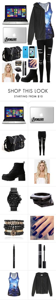 """Untitled #1351"" by deathnotegirl101 ❤ liked on Polyvore featuring Toshiba, Miss Selfridge, Lipstik, With Love From CA, Lynn Ban, Samantha Wills, Lottie, Stila, Christian Dior and American Vintage"