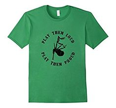 Bagpipes: play them loud, play them proud! Wear this shirt to let everyone around you know that you're a piper and proud of it. This bagpipes t-shirt with vintage-styled lettering and graphic is sized for a classic fit.