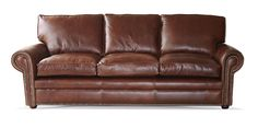 The Blenheim 3 Seat Sofa handmade in Dark Brown Crystal aniline leather with plain back and fibre seats. Solid hardwood frame traditionally handmade with sprung back and seat. All filling materials meet British standards for fire retardant requirements, finished in Brown aniline leather that is 100% Top Grain Leather and carries Lifetime Guarantee. Hand crafted in England by time served craftsman. Measuring (LxDxH):198x92x97cm. Custom sizes are available.