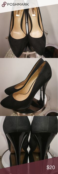Zara Collection Women's 7 Black Suede Heels Pre-owned item in very good condition, normal wear. Please refer to all pics to see details and defects. I'm available to answer any questions you may have about this item. Zara Shoes Heels